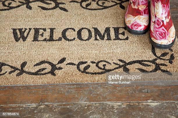 'Welcome' doormat