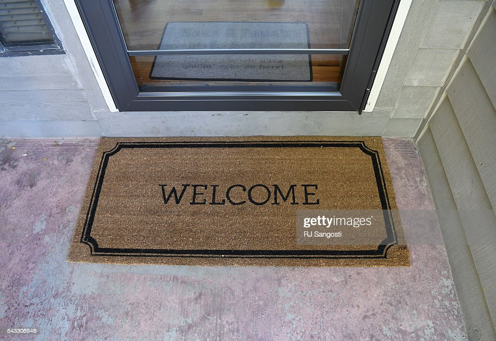 A welcome mat is outside Barry and Mary Drotar's home in Littleton, June 24, 2016. With the help of Ancestry.com's DNA test they got to welcome their son into their home after he was put up for adoption, by his then-teenage parents.