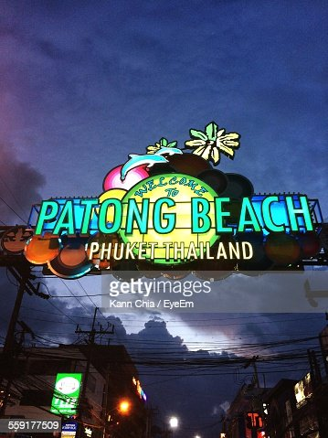 Welcome Sign Of Patong Beach