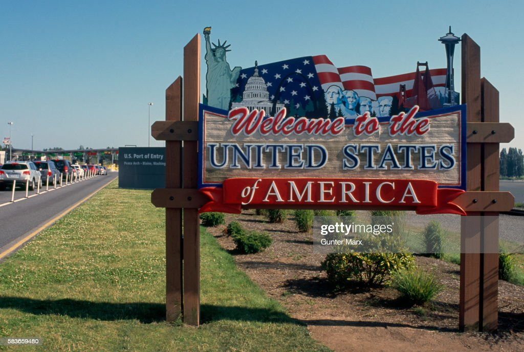 Welcome Sign to United States of America