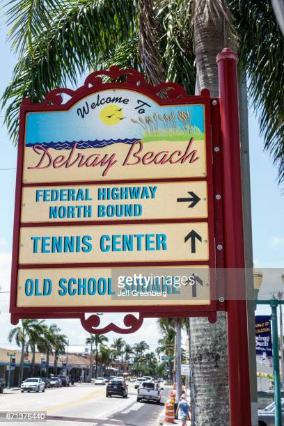 A welcome to Delray Beach sign