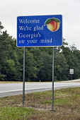 Welcome to Georgia sign along U.S. Route 319 at the Florida/Georgia state line.