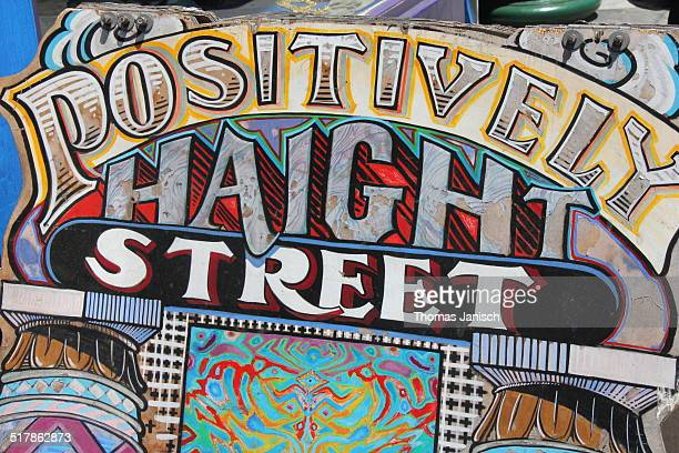 Welcome to Haight Street neighborhood of the hippie culture in San Francisco USA