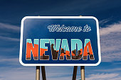 Welcome to Nevada road sign along State Route 373 near Death Valley