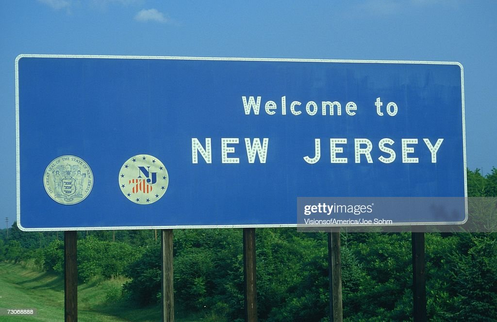 Welcome to New Jersey Sign : Stock Photo