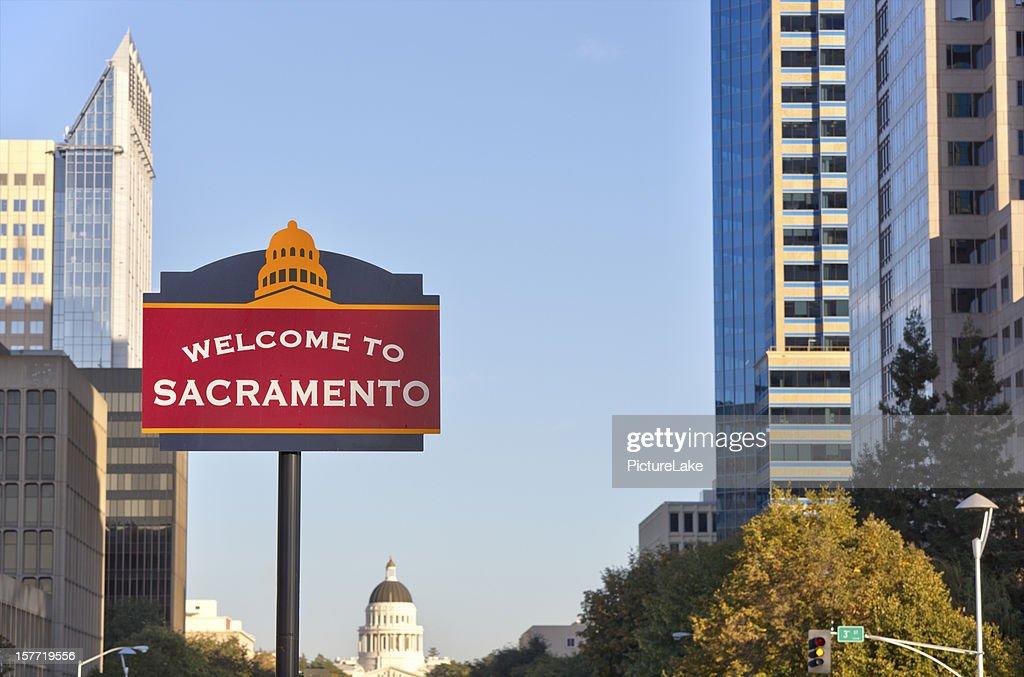 Welcome to Sacramento sign