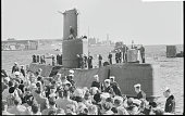 Welcoming Crowd For Record Setter Groton Connecticut A welcoming crowd stands on the pier as the atomic submarine Seawolf arrives at Groton...