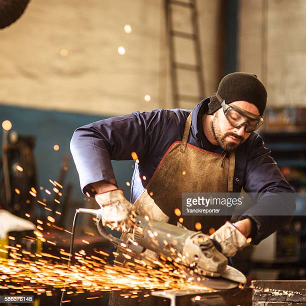 welder on a workshop