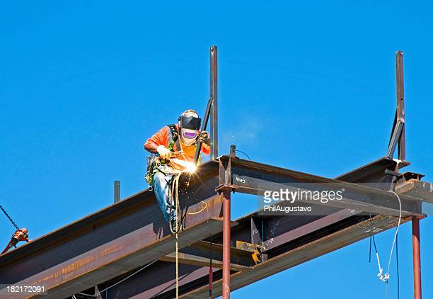 Welder on construction site