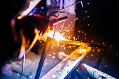 Welder welded metal rods