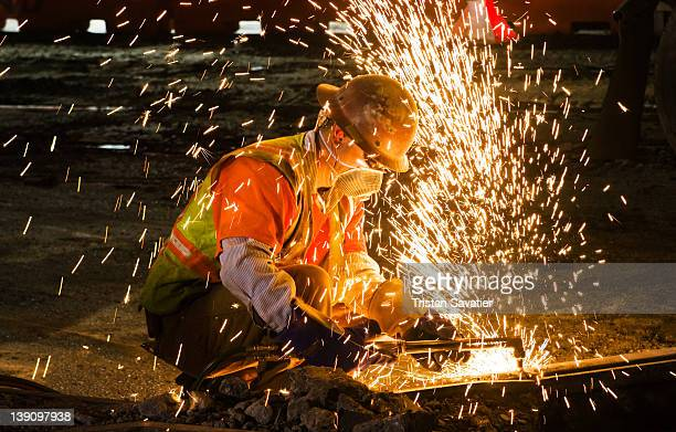 Welder using an oxy-acetylene cutting torch
