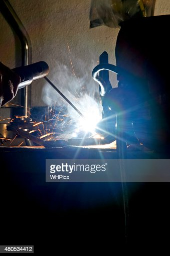Welding ray lights : Stockfoto