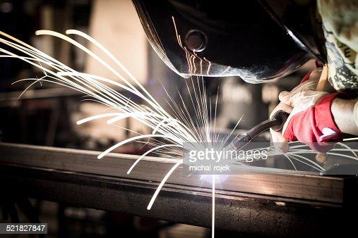 Welding steel : Stock Photo