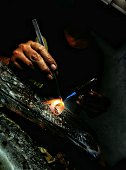 Welding Torch Melting The Gold Rings