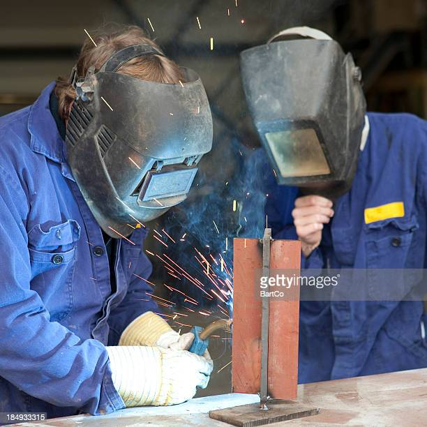 Welding trainee