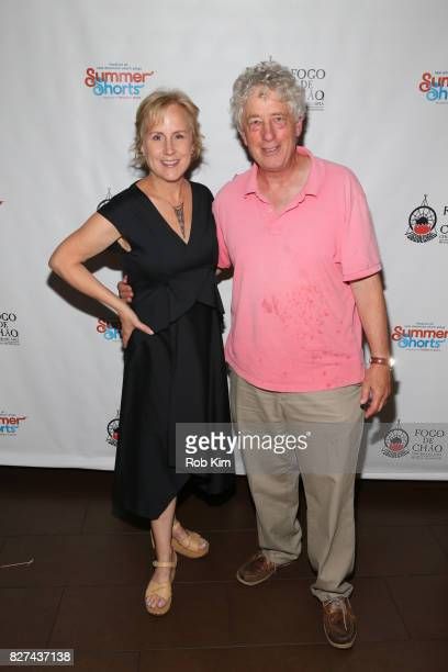 Welker White and Bill Buell attend the OffBroadway opening night party for 'SUMMER SHORTS 2017' at Fogo de Chao Churrascaria on August 7 2017 in New...