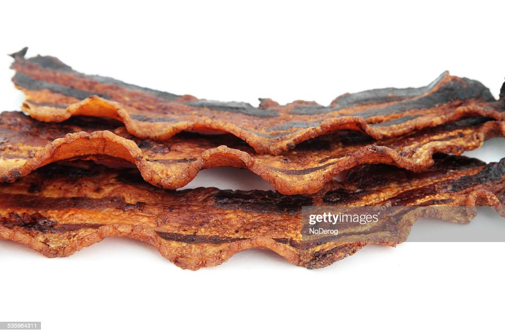 Well done bacon : Stock Photo
