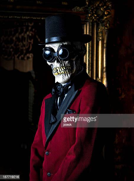 Well Dressed Man with Skeleton Mask