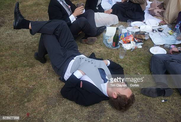 A well dressed racegoer rests during the Royal Ascot After over a decade of Labour Government in Great Britain the gap between the wealthy and the...