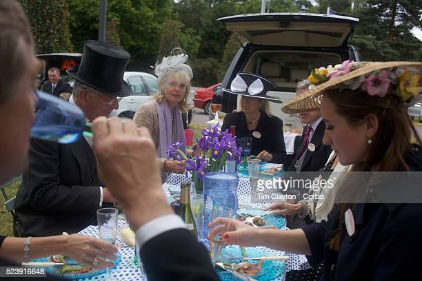 Well dressed racegoers eat a picnic at the Royal Ascot After over a decade of Labour Government in Great Britain the gap between the wealthy and the...