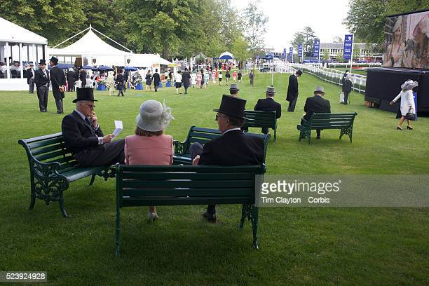 Well dressed racegoers sit on benches during the Royal Ascot race meeting After over a decade of Labour Government in Great Britain the gap between...