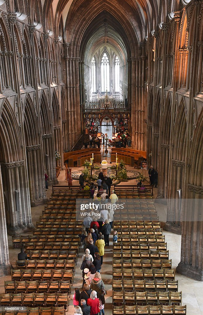 Well wishers wait to pay their respects to Stephen Sutton as his coffin lies in Lichfield Cathedral during a two day vigil in his memory on May 30...