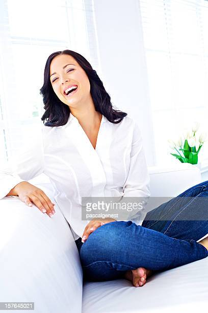 wellbeing laughing woman
