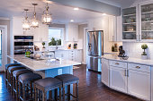 White cabinets with white countertopsAlternate version