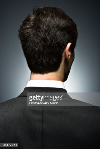 Well-dressed man, rear view