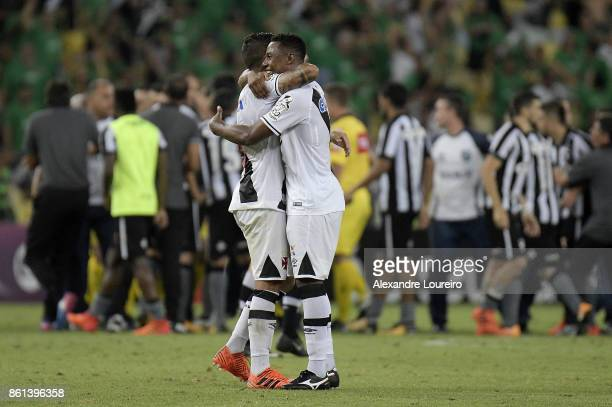 Wellington and Jean of Vasco da Gama celebrates the victory after the match between Vasco da Gama and Botafogo as part of Brasileirao Series A 2017...