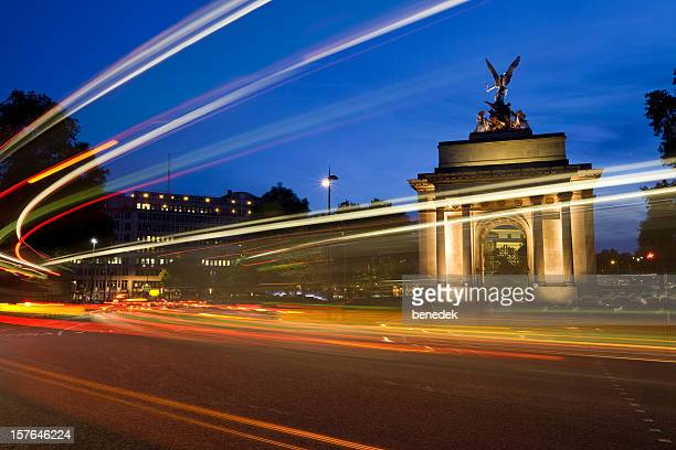 Wellington Arch and Traffic in London