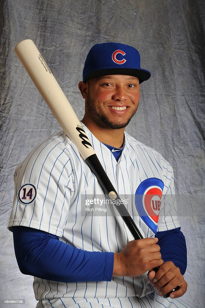 Wellington Castillo #5 of the Chicago Cubs poses for a portrait during Photo Day on March 2, 2015 at Sloan Park in Mesa, Arizona.