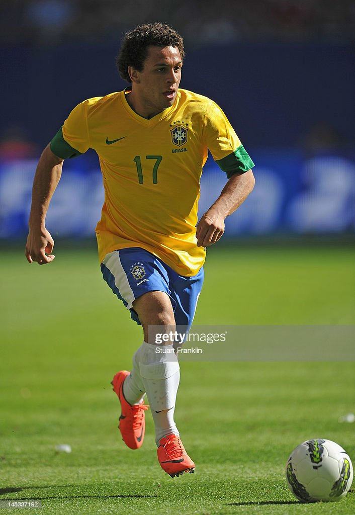 Wellington Nem of Brazil in action during the International friendly match between Brazil and Denmark at the Imtech Arena on May 26 2012 in Hamburg...