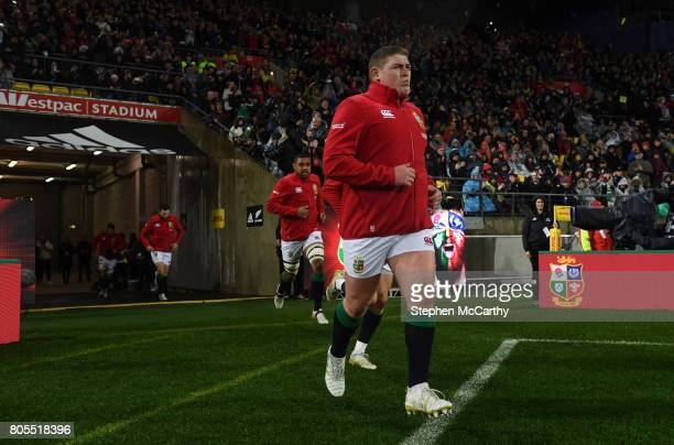 Wellington New Zealand 1 July 2017 Tadhg Furlong of the British Irish Lions during the Second Test match between New Zealand All Blacks and the...