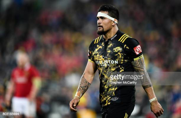 Wellington New Zealand 27 June 2017 Vaea Fifita of of the Hurricanes during the match between Hurricanes and the British Irish Lions at Westpac...
