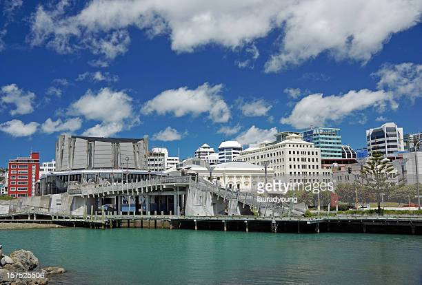 Wellington New Zealand viewed from the river