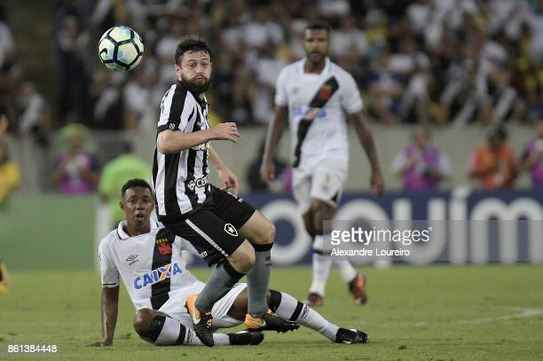 Wellington of Vasco da Gama battles for the ball with João Paulo of Botafogo during the match between Vasco da Gama and Botafogo as part of...