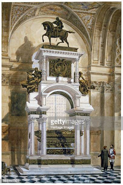 'Wellington's Monument in St Paul's Cathedral' City of London 1877 The memorial to the Duke of Wellington designed by Alfred Stevens was completed in...