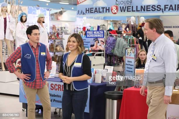 SUPERSTORE 'Wellness Fair' Episode 216 Pictured Ben Feldman as Jonah America Ferrera as Amy Mark McKinney as Glenn