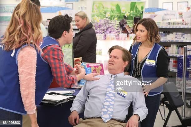 SUPERSTORE 'Wellness Fair' Episode 216 Pictured Nichole Bloom as Cheyenne Ben Feldman as Jonah Mark McKinney as Glenn America Ferrera as Amy
