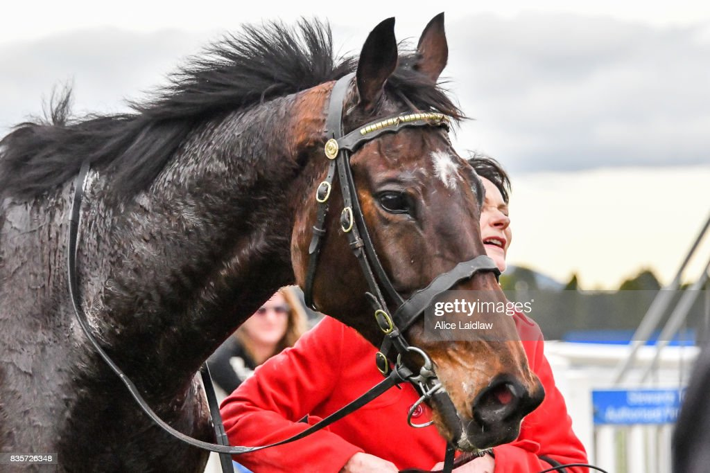 Wells after winning the E-Cycle Solutions Grand National Steeplechase at Sportsbet-Ballarat Racecourse on August 20, 2017 in Ballarat, Australia.