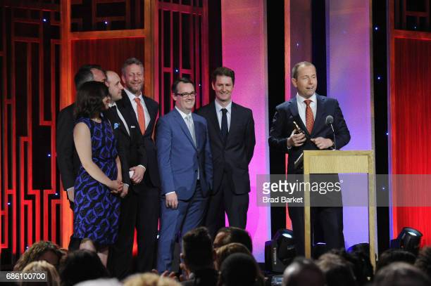 Wells Fargo Hurts Whistleblower Chris Arnold accepts an award on stage during The 76th Annual Peabody Awards Ceremony at Cipriani Wall Street on May...
