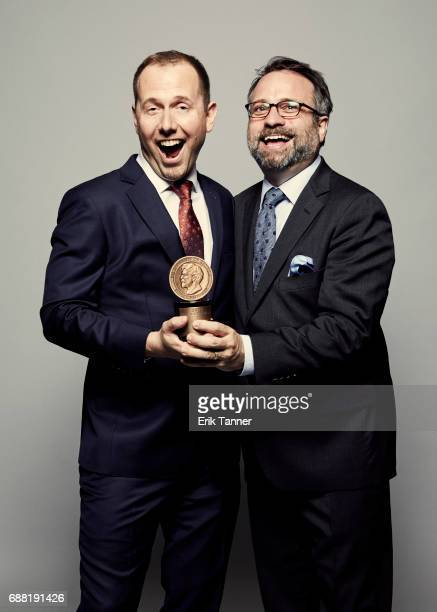 Wells Fargo Hurts Whistleblower Chris Arnold and Robert Smith are photographed at the 76th Annual Peabody Awards at Cipriani Wall Street on May 20...