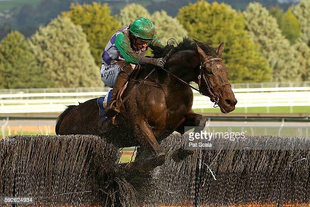 Wells ridden by Richard Cully wins QLS Grand National Steeplechase at SportsbetBallarat Racecourse on August 21 2016 in Ballarat Australia