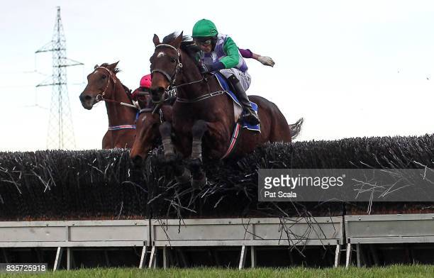Wells ridden by Richard Cully wins the ECycle Solutions Grand National Steeplechase at SportsbetBallarat Racecourse on August 20 2017 in Ballarat...