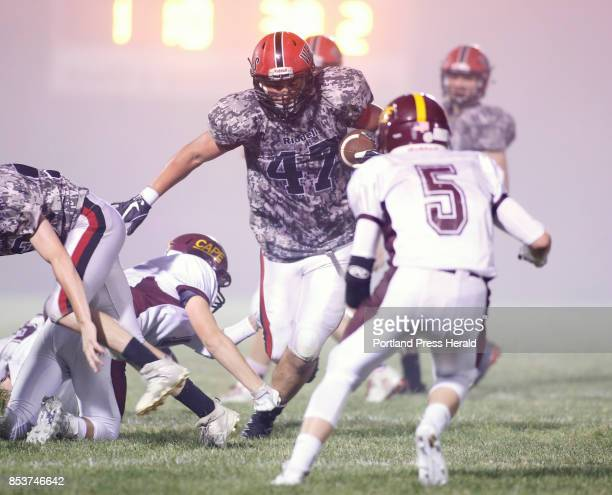 Wells vs Cape Elizabeth football Nolan Potter of Wells runs up the middle in the first half