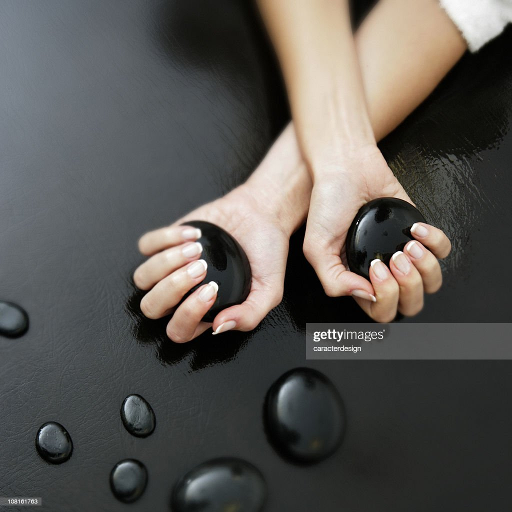 Welness: massage stones : Stock Photo