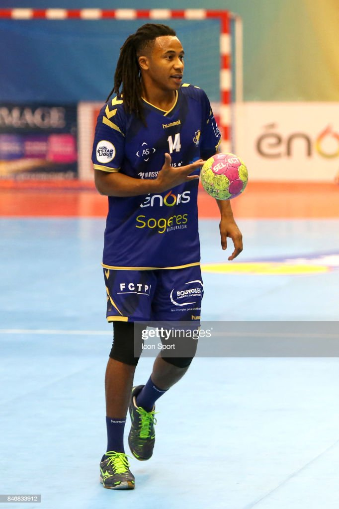 Welsau Bungue of Massy during Lidl Star Ligue match between Massy Essonne Handball and HBC Nantes on September 13, 2017 in Massy, France.