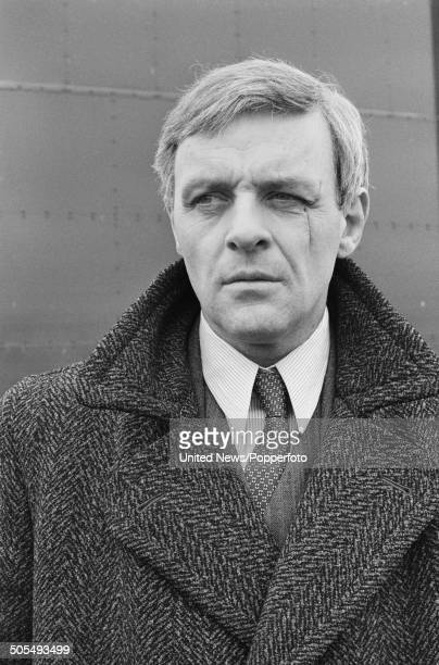 Welsh actor Anthony Hopkins pictured in character as Ravic from the film Arch of Triumph in London on 3rd May 1984