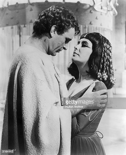 Welsh actor Richard Burton with his costar and future wife Elizabeth Taylor in the epic drama 'Cleopatra'